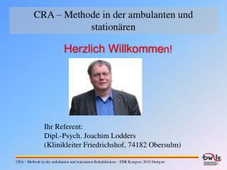 CRA   Methode in der ambulanten und station ren