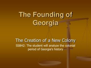 The Founding of Georgia