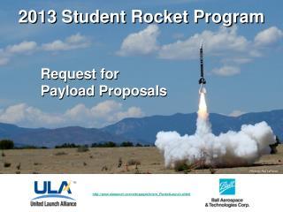 2013 Student Rocket Program