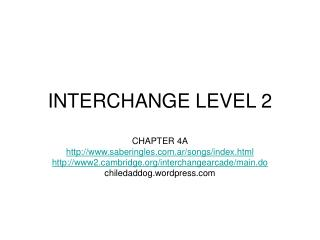 INTERCHANGE LEVEL 2