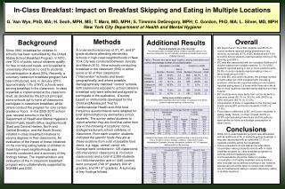 In-Class Breakfast: Impact on Breakfast Skipping and Eating in Multiple Locations