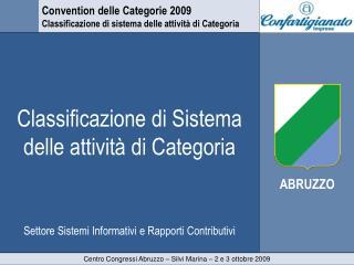 Classificazione di Sistema delle attività di Categoria
