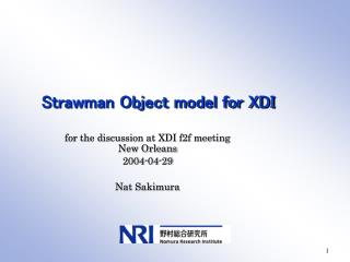 Strawman Object model for XDI