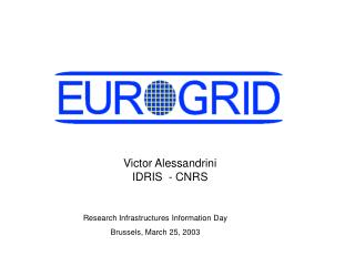 Research Infrastructures Information Day Brussels, March 25, 2003
