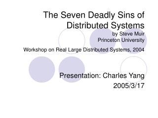 Presentation: Charles Yang 2005/3/17