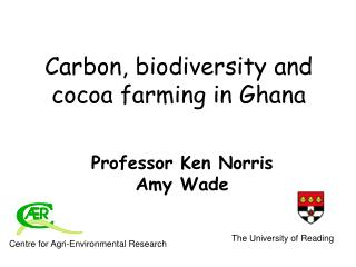 Carbon, biodiversity and cocoa farming in Ghana