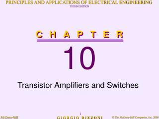 Transistor Amplifiers and Switches