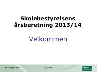 Skolebestyrelsens årsberetning 2013/14