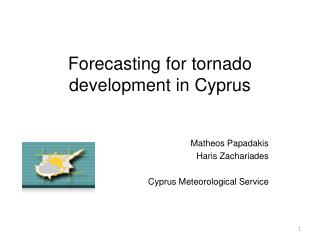 Forecasting for tornado development in Cyprus