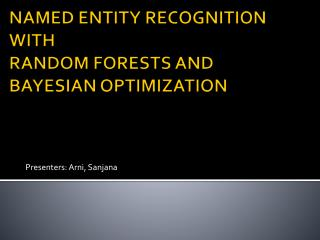 NAMED ENTITY RECOGNITION  WITH  RANDOM FORESTS AND BAYESIAN OPTIMIZATION