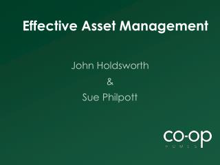 Effective Asset Management