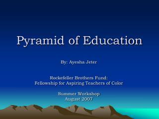 Pyramid of Education