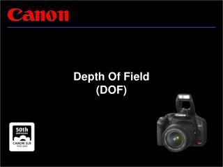 Depth Of Field  (DOF)