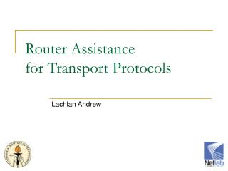 Router Assistance for Transport Protocols