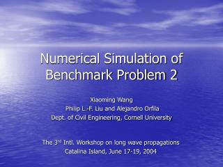 Numerical Simulation of Benchmark Problem 2
