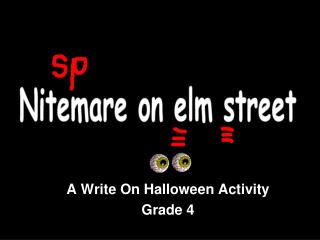 A Write On Halloween Activity Grade 4