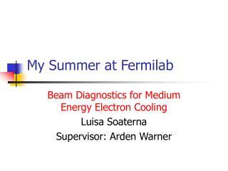 My Summer at Fermilab