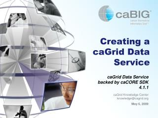 Creating a caGrid Data Service