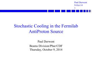 Stochastic Cooling in the Fermilab AntiProton Source