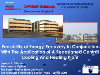 Feasibility of Energy Recovery in Conjunction With The Application of A Redesigned Central Cooling And Heating Plant