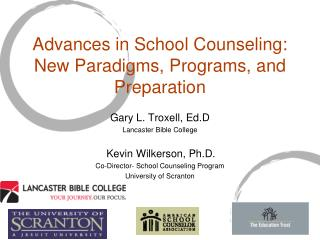 Advances in School Counseling: New Paradigms, Programs, and Preparation