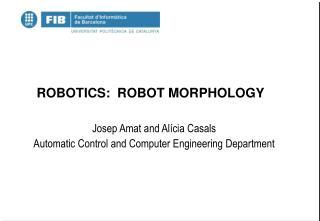 ROBOTICS:  ROBOT MORPHOLOGY
