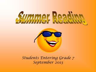 Students Entering Grade 7 September 2013
