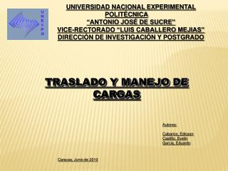 UNIVERSIDAD NACIONAL EXPERIMENTAL POLIT CNICA  ANTONIO JOS  DE SUCRE  VICE-RECTORADO  LUIS CABALLERO MEJIAS  DIRECCI N D