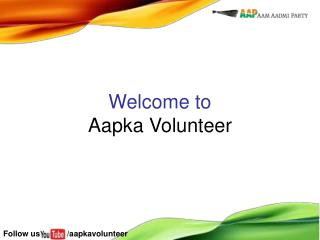 Welcome to Aapka Volunteer