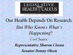 Does Alaska s Health Training  Make the Grade Alaska s Health Workforce Co-Chairs: Representative Sharon Cissna Senator