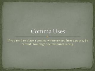 Comma Uses
