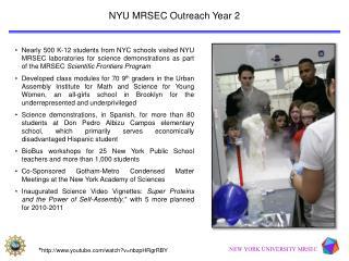 NEW YORK UNIVERSITY MRSEC