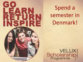 Spend a semester in Denmark!