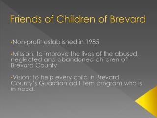 Friends of Children of Brevard