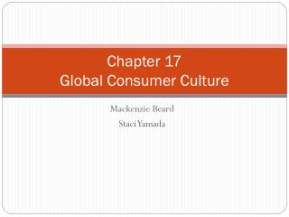 Chapter 17 Global Consumer Culture