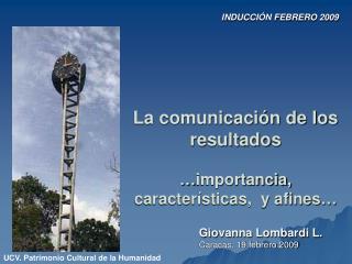 La comunicaci�n de los resultados  �importancia, caracter�sticas,  y afines�