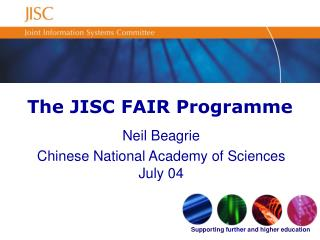The JISC FAIR Programme