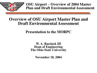 Airport Master Plan Purpose