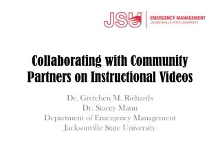 Collaborating with Community Partners on Instructional Videos