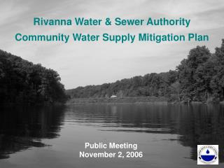 Rivanna Water & Sewer Authority Community Water Supply Mitigation Plan