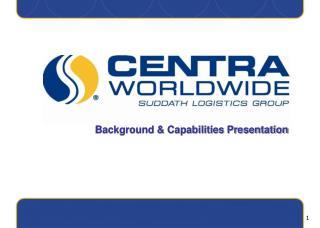 Background & Capabilities Presentation