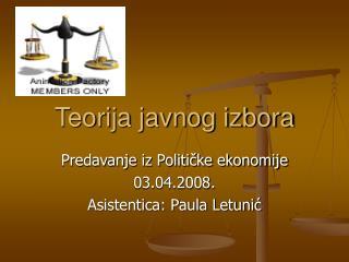 Teorija javnog izbora
