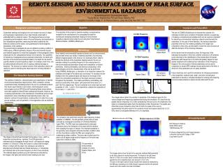 REMOTE SENSING AND SUBSURFACE IMAGING OF NEAR SURFACE ENVIRONMENTAL HAZARDS