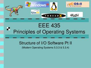 EEE 435 Principles of Operating Systems