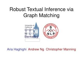 Robust Textual Inference via Graph Matching