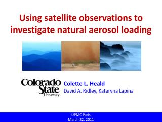 Using satellite observations to investigate natural aerosol loading
