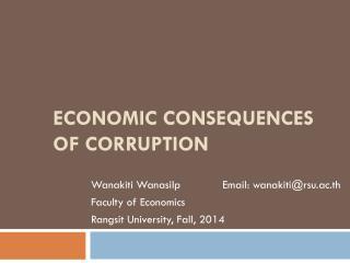 ECONOMIC CONSEQUENCES OF CORRUPTION