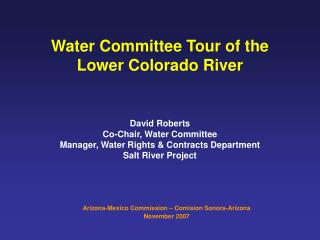 Water Committee Tour of the Lower Colorado River