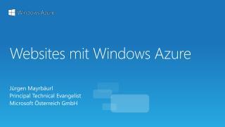Websites  mit Windows  Azure