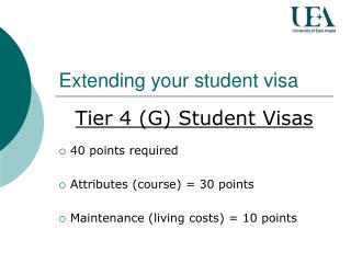 Extending your student visa
